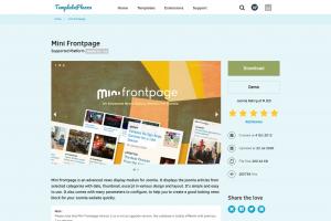 記事をブロック状に表示する Mini Frontpage